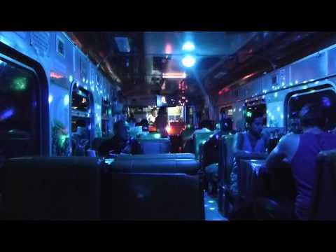 Night Train from Chiang Mai to Bangkok disco car