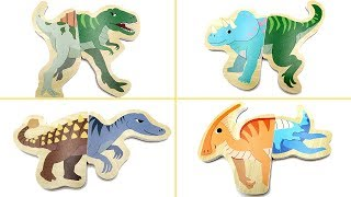 Wrong Heads Dinosaur Wooden Puzzle! Jurassic world2 Dinosaurs Toy For Kids~ T Rex