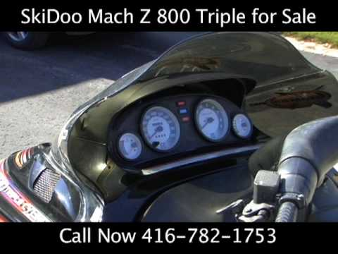 Used Snowmobile for Sale Barrie - Ski-Doo Mach Z 800 Triple 2002 Collingwood. Orillia. Innisfil
