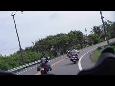 Three HDs / Harley Davidsons on A1A in Palm Beach, Florida