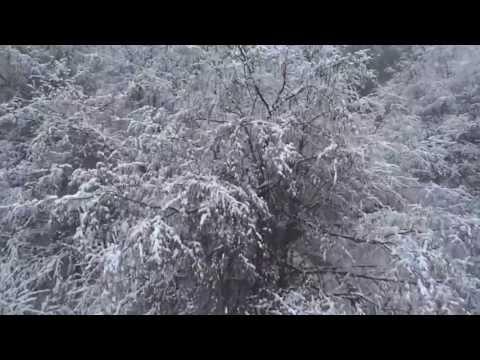 空飛ぶカメラ「季節はずれの雪化粧」4号機にて