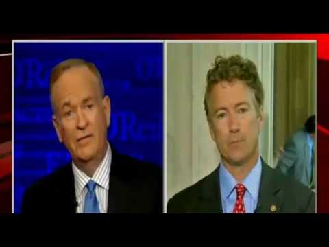 "Rand Paul on O'Reilly: Edward Snowden Leak a ""Noble Gesture"" - 6/11/13"