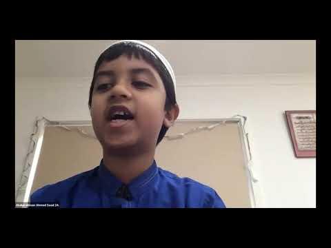 Al Siraat College student reciting tawaf dhikr