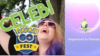 I CAUGHT CELEBI! Pokémon Go Fest 2018! + Torkoal and Question Mark Unown!
