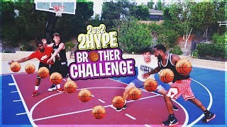 2HYPE 2vs2 BROTHERS BASKETBALL CHALLENGE VS JESSER & JIEDEL!
