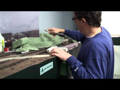 Building terrain with florist foam   Model railroad scenery how-to   Model Railroad Hobbyist
