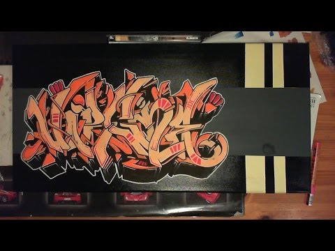 Wildstyle graffiti Canvas // Graff sur toile speed painting (molotow one4all) [HD]