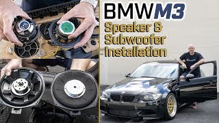 BMW E90 M3 - Full Car Audio System and Speaker replacement - GRS Speakers