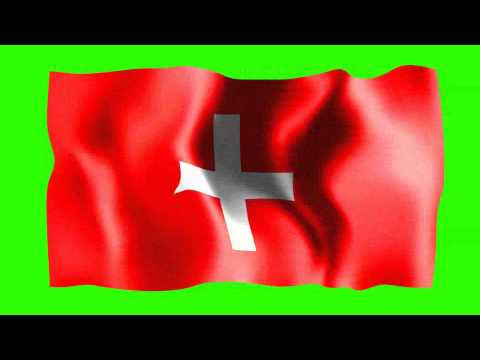 Switzerland Waving Flag - Free Hd Green Screen Animation video