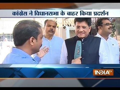 Coal Minister Piyush Goyal speaks with India TV over shivsena reaction on wins trust vote