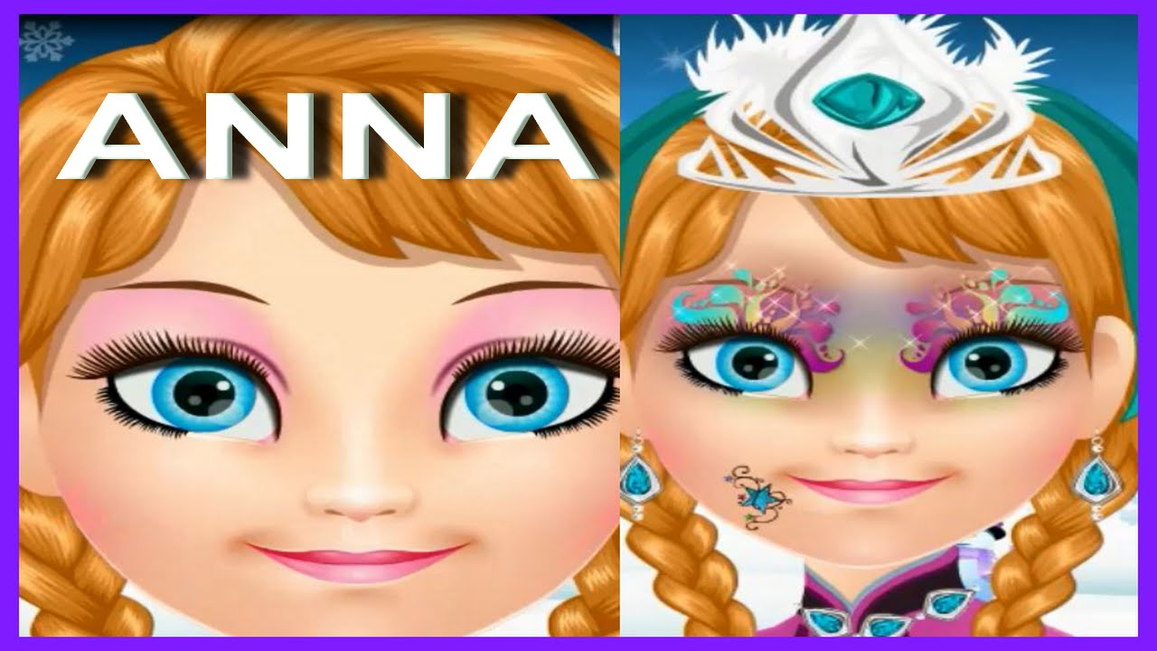Face Painting Anna Frozen Anna Face Painting Game