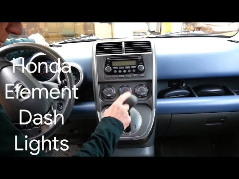 Honda Element - How-to Change ALL Instrument Panel Cluster Lights in 30 Minutes