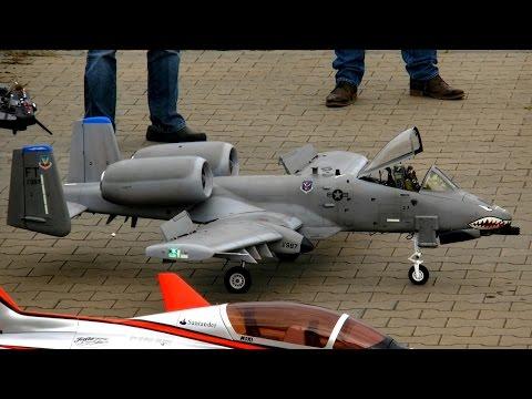 A-10 WARTHOG THUNDERBOLT II RC SCALE MODEL TURBINE JET DEMO FLIGHT / Bölsdorf Germany 2015
