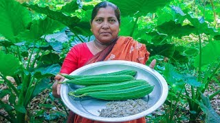 Village Food: Ridge Gourd with Shrimp Village Cooking Recipe by Village Food Life