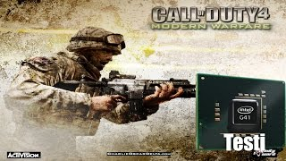 COD MW1 İntel G41 Test