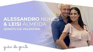 Leisi Almeida e Alessandro Nunes escolhem Coleção Anjo Rosa para o quarto da Valentina