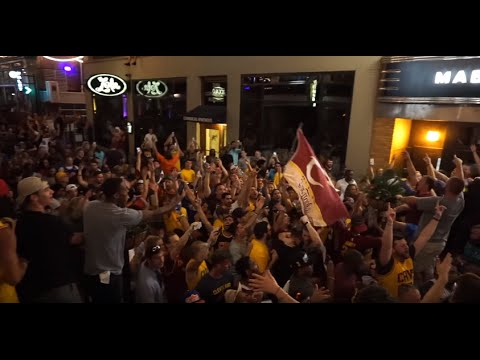 Cleveland Fans Reaction To Cavaliers Winning 2016 NBA Finals Championship!