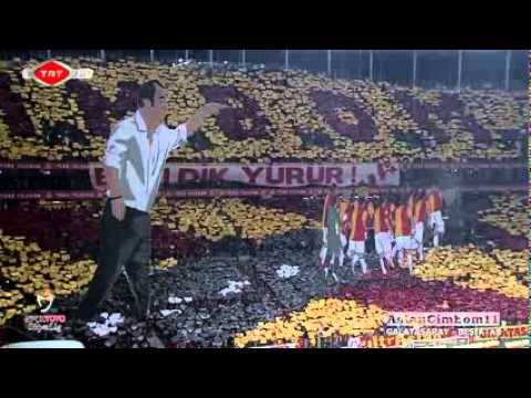 Impressionante Coreografia in 3D Galatasaray   Besiktas 26 02 2012 in HD