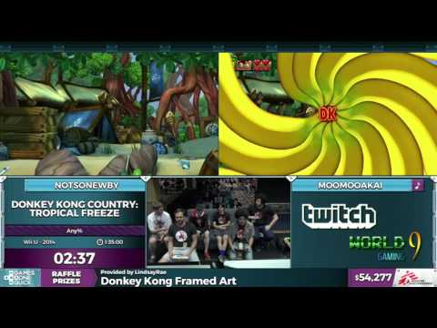 Donkey Kong Country: Tropical Freeze by Various Runners in 1:34:55 - SGDQ2016 - Part 7