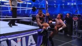 WWE Wrestlemania 27 -  CM Punk vs Randy Orton - Highlights HD