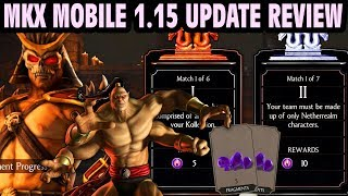 MKX Mobile 1.15 Update is LIVE! Easy Diamond Shao Kahn, Relic Hunt, Goro is here and MORE!