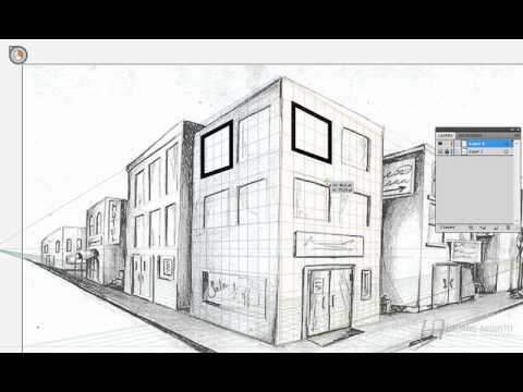 Illustrator Cs5 Desenhando Em Perspectiva Youtube