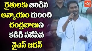 YS Jagan Speech about AP CM Chandrababu America Tour | Farmers Schemes | AP News