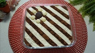 Quick and easy tiramisu without eggs