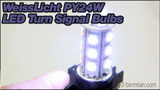 WeissLicht PY24W LED Turn Signal Bulbs