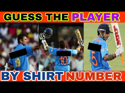 Guess the Cricket Player by shirt number | Indian Cricket team