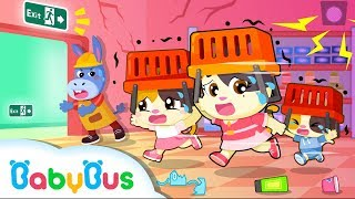 Run! Earthquake Happens in Supermarket | Kids Safety Tips |  Baby Kitten Family | Kids Song| BabyBus
