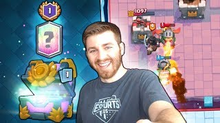 LOL! LUCKY 1 WIN CHALLENGE CHEST LEGENDARY OPENING! | Clash Royale | GRAND CHALLENGE GAMEPLAY!