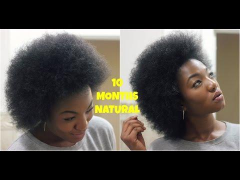 Natural Hair  Big Chop  10 Month Update