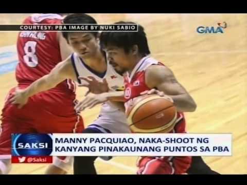 Saksi: Manny Pacquiao, naka-shoot ng kanyang pinakaunang puntos sa PBA