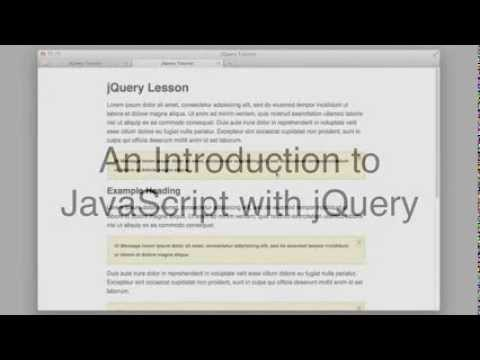 JavaScript and jQuery Tutorial (for Beginners)