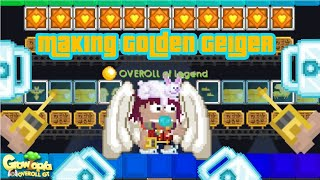 Growtopia | Making Golden Geiger