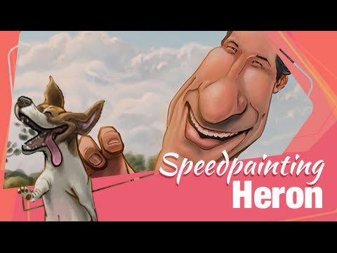 Speedpainting Heron | FRANCIS DE CRISTO | 3/365