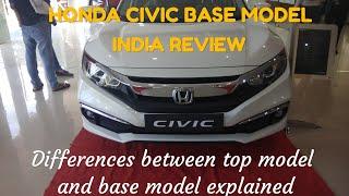 Honda Civic 2019 (V) Variant Base Model Review | Hardik Car show