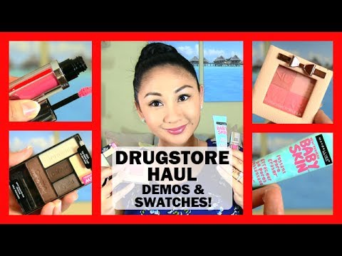 NEW! Drugstore Makeup Haul & Review: WetnWild, Physicians Formula, Maybelline, Milani!