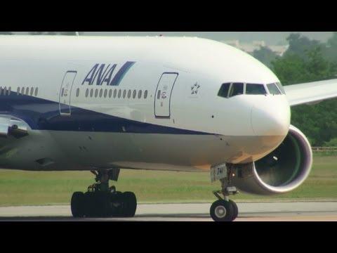 [B777 & 2000m Runway] ANA Boeing 777-200ER JA741A TAKE-OFF TOYAMA Airport 富山空港 2012.6.6
