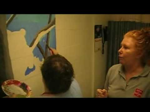 Adults with disabilities express themselves through art. Samples of the ...