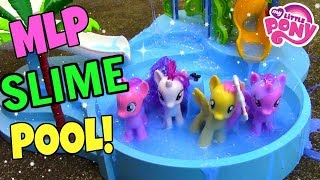MY LITTLE PONY SLIME POOL PARTY! | Mommy Etc