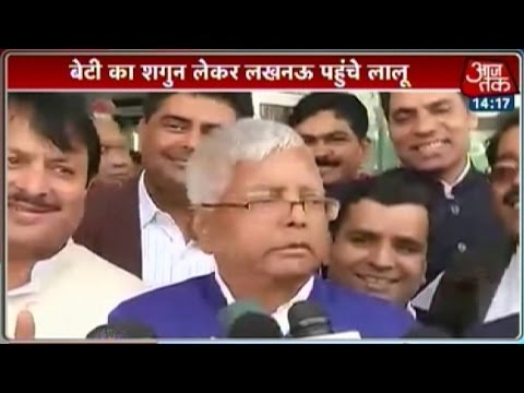 Lalu Prasad visits Mulayam's house with daughter's 'shagun'