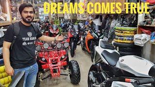 Visit rawalpindi biggest heavy bikes quad bikes showroom
