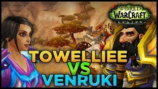 Legion PvP Towelliee vs Venruki - Friendly Duels - Prot Paladin/WW Monk