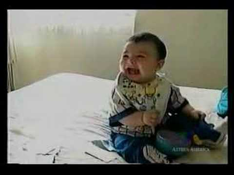 Insanely cute baby laughing. Post to facebook/twitter and share the joy of laughter with your friends!