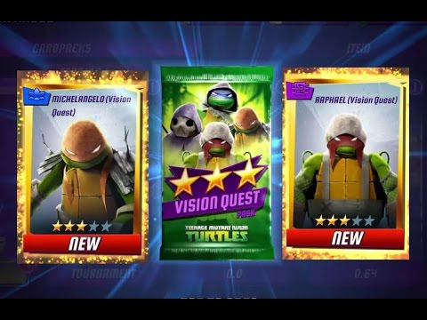 Ninja Turtles Legends Vision Quest Packs Opening