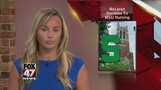 McLaren donates to MSU College of Nursing