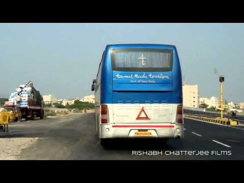 "TAMILNADU TOURISM Volvo B7R Bus""Chasing"" at tirupati,Ap,India"