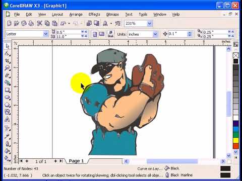 Tracing a drawing in CorelDraw